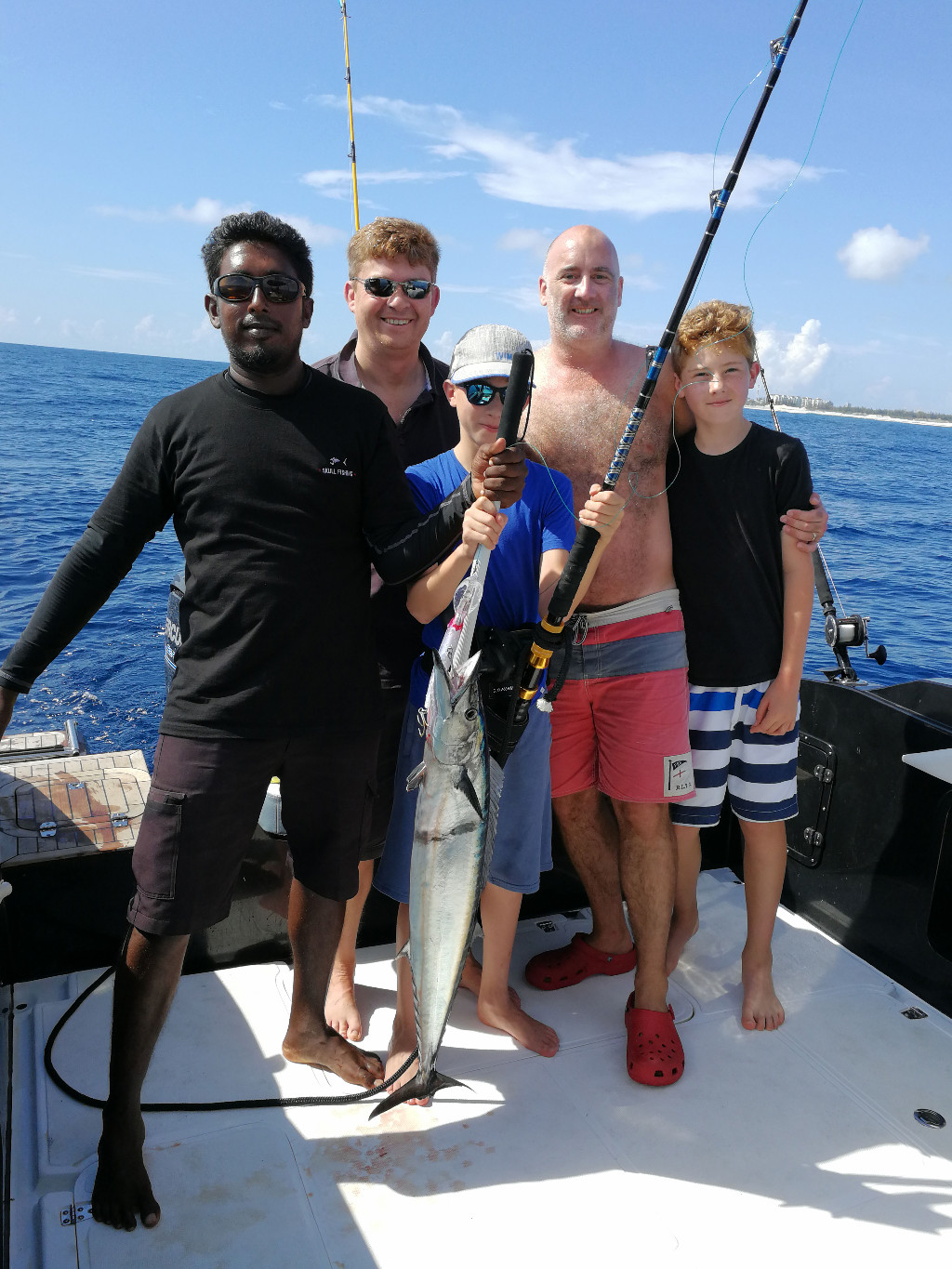 Game fishing in Maldives, morning trollling caught a wahoo